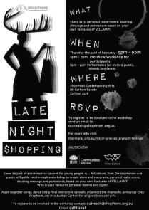 'Late Night Shopping' Audience Invite, 2012