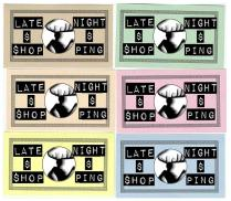 'Late Night Shopping' Ticket Design, 2012