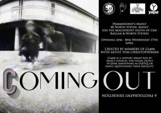 'Coming Out' Exhibition Invite, 2013
