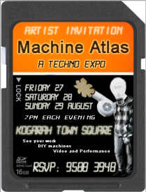 'Machine Atlas' Artist Invite (Front), 2011